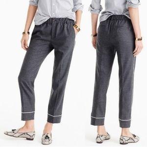 J. Crew Party PJ Wool Pants Charcoal Gray Size 10
